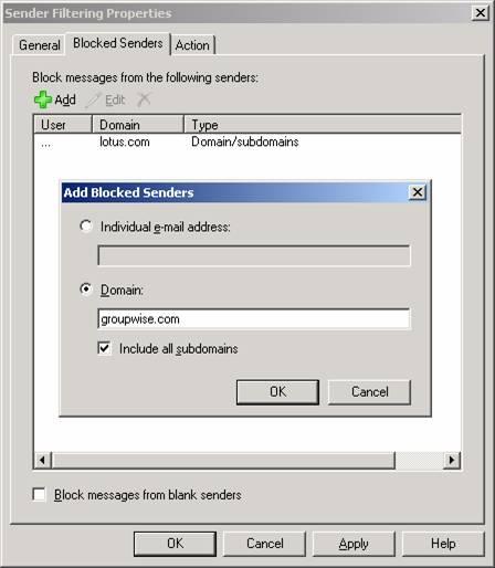 User exchange 2003