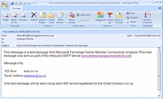 Тест microsoft exchange outlook