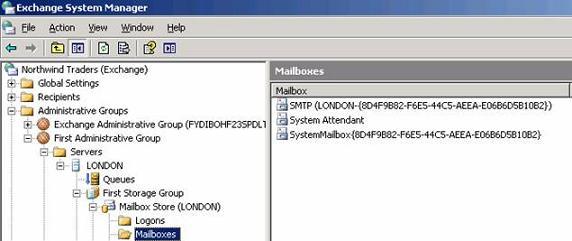 Выгрузка почтовых контактов exchange 2003