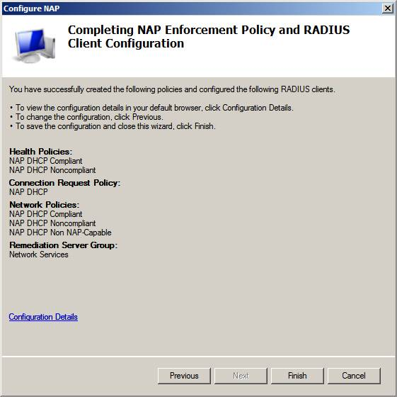Dhcp nap