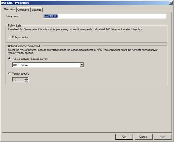Служба доступа к сети nps