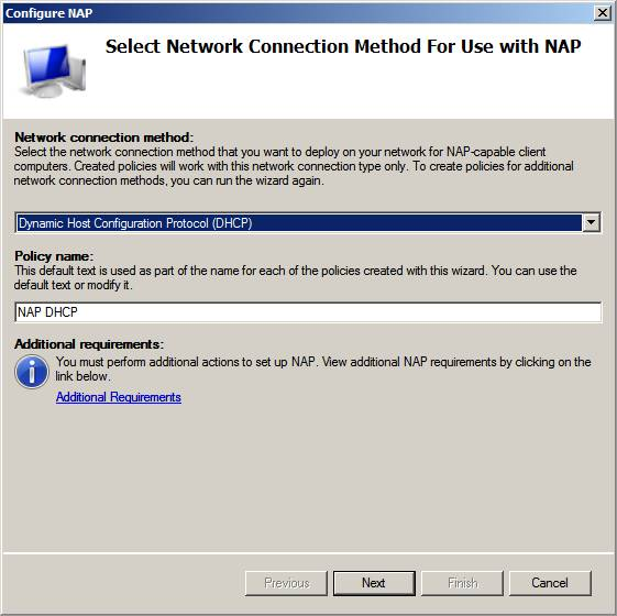 Nap dhcp