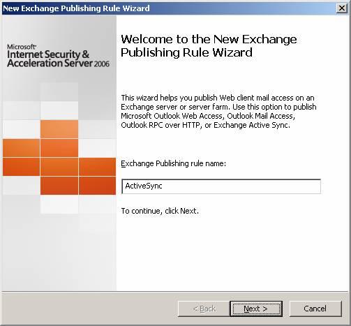Публикация сервера exchange activesync