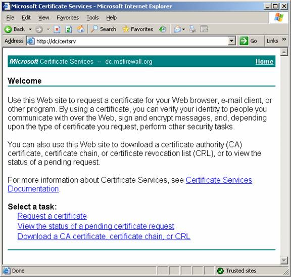 Exchange 2007 owa сертификат