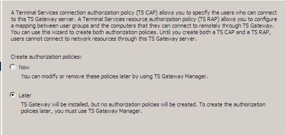 Проблемы с настройкой шлюза служб терминала