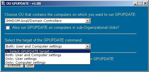 Команда вызова обновление политики компьютера