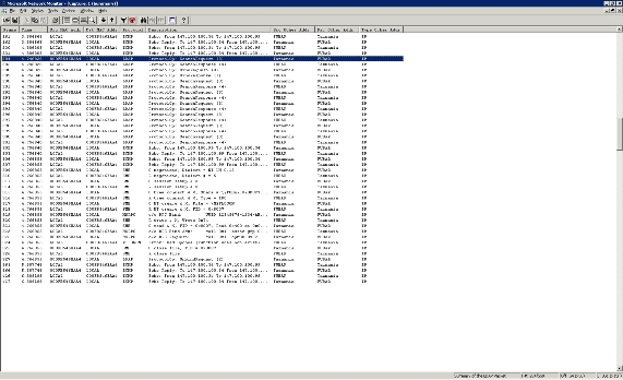 Работа с сетевым монитором network monitor