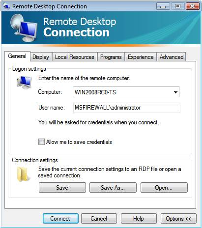 Как настроить терминальный доступ Windows 2008?