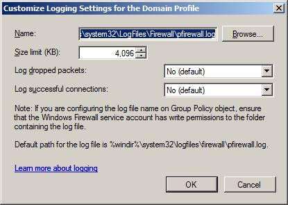 Блокировка TCP соединений win2008