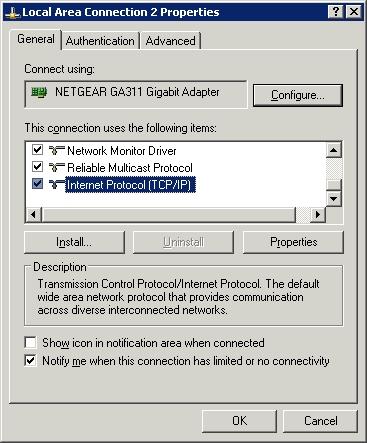 Проблема с подключением server 2003