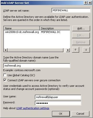 Sql server 2008 безопасное подключение ldap