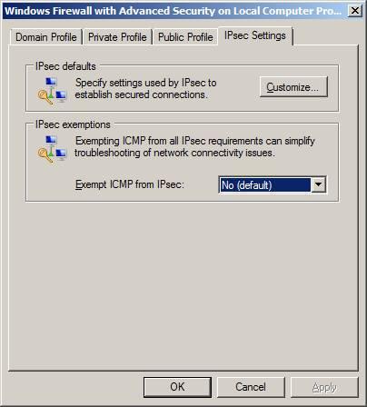 Windows 2003 фаервол консоль