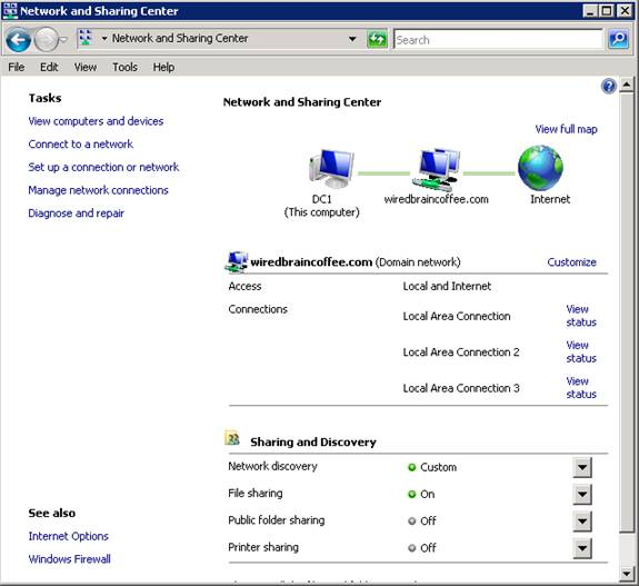 Использование файлов по сети сервер 2008
