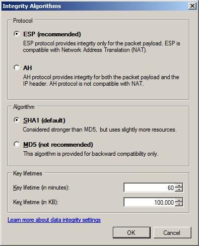 Windows 2008 firewall ipsec