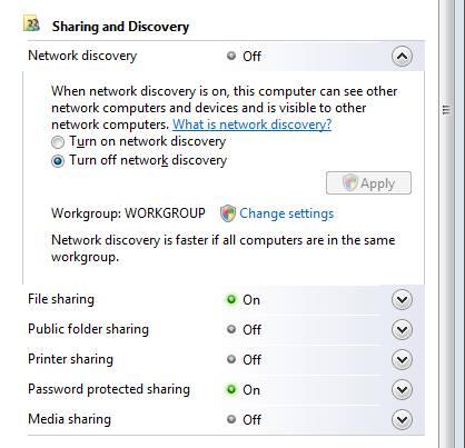 Sharing Windows server