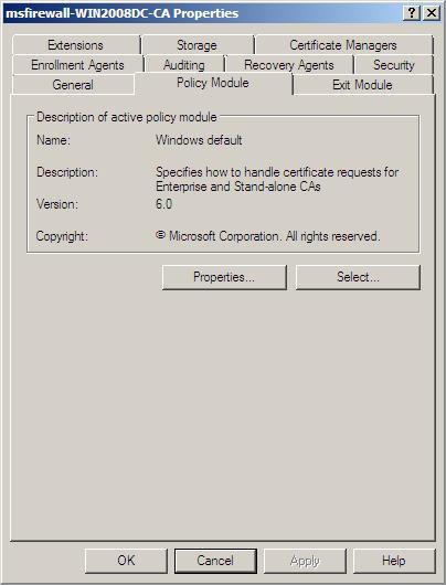 Публикация шаблона на сервере сертификации
