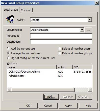 Gpo создание локальной учетной записи