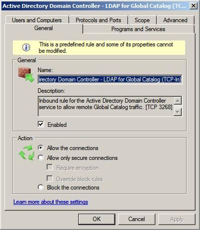 Брандмауэр Windows server 2008