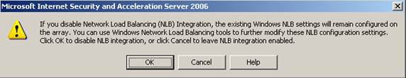 Windows 2003 isa 2006 nlb