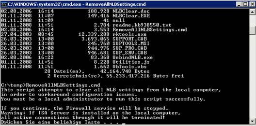 Configuring isa 2006 nlb