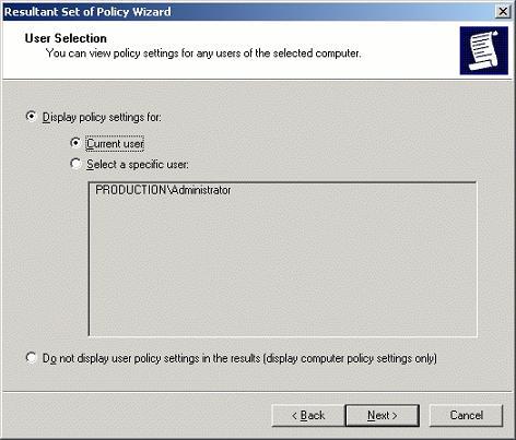 В rsop не дает выбрать пользователей