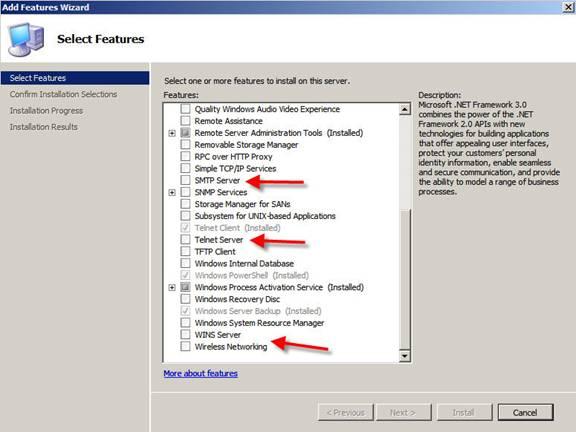 Сетевые службы Windows server 2008