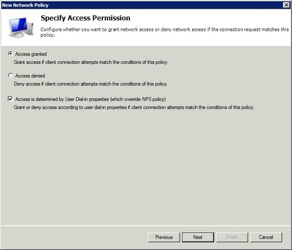 Развертывание radius Windows 2003