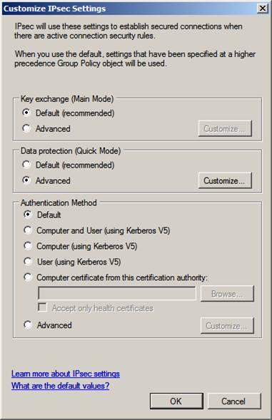 Windows firewall в server 2008