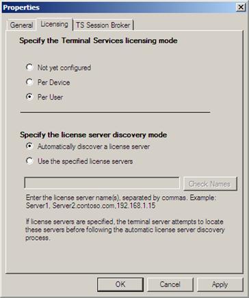 Isa лицензирование сервера терминалов