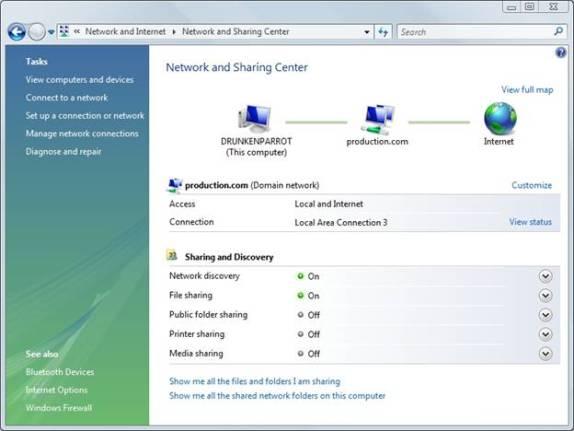 Windows не отображает полную карту сети